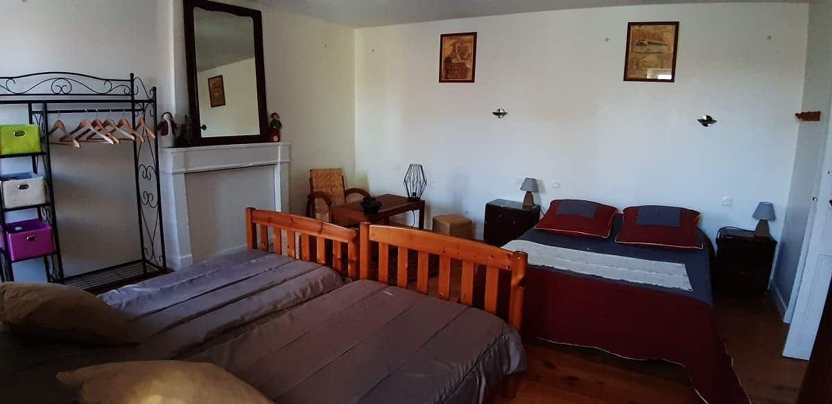 La grande chambre des enfants du gite sur l'île de Ré pour un séjour de détente et de découverte en famille - Gite Les Fillattes