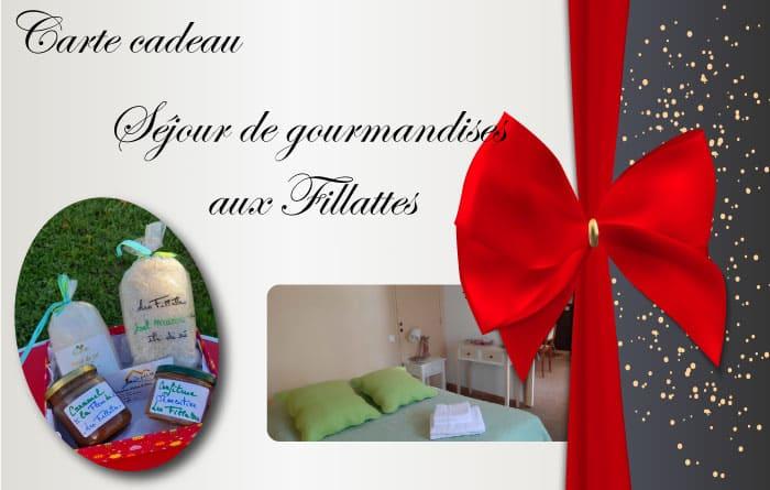 Découvrez la carte cadeau Gourmandises lors de votre séjour aux chambres d'hôtes Les Fillattes sur l'île de Ré