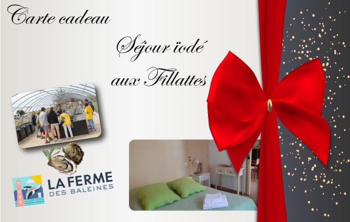 Découvrez la carte cadeau séjour iodé lors de votre séjour aux chambres d'hôtes Les Fillattes sur l'île de Ré