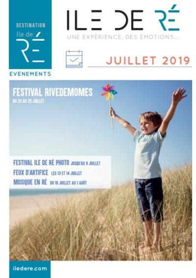 Guide animation juillet 2019 de l'ile de Ré par votre chambre d'hotes Les Fillattes